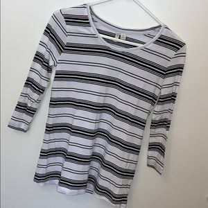 Cato Striped Mid Sleeved Top